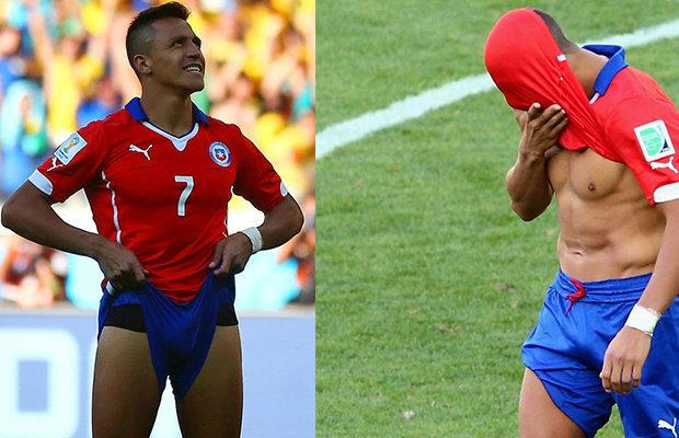 footballer bulge