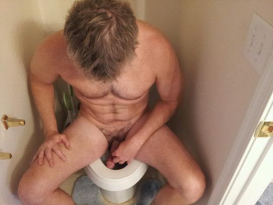 hard dick guy toilet
