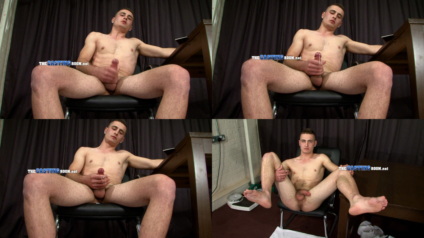 jerking guy naked casting room
