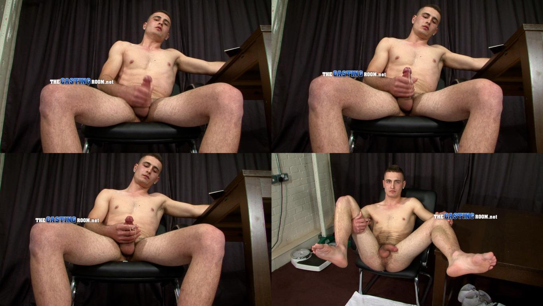 jerking guy naked casting room