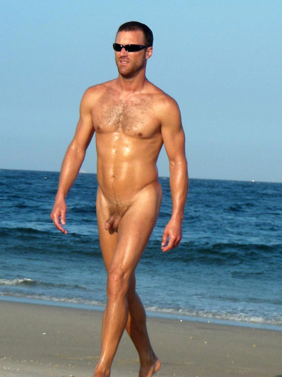 nudist man walking naked