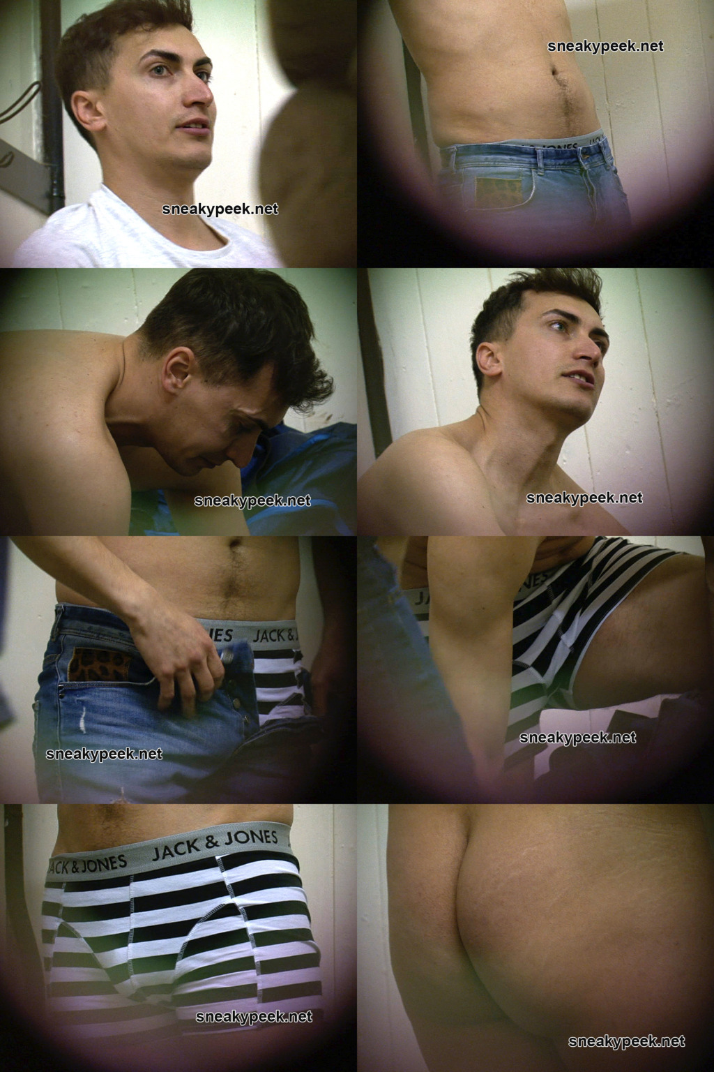 guy changing naked locker room