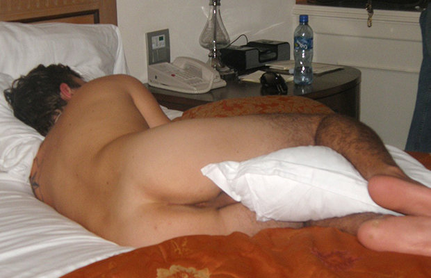 sleeping guy naked