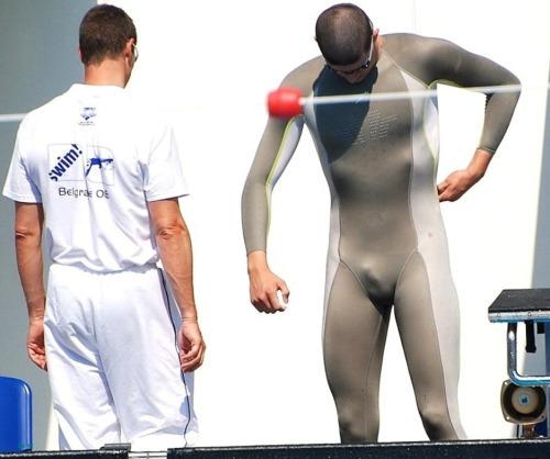 spandex dick bulge