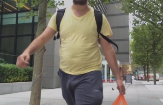 bulge guy walking