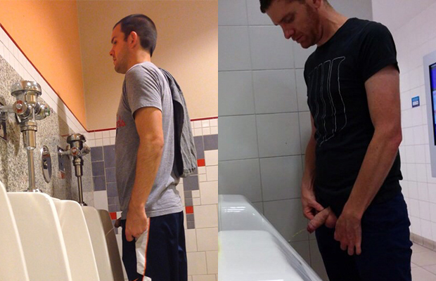 Men bathroom urinal voyeur pics video
