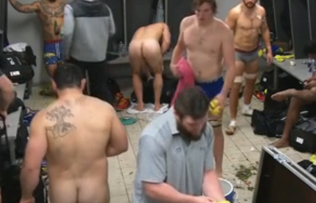 naked rugby player lockerroom tv