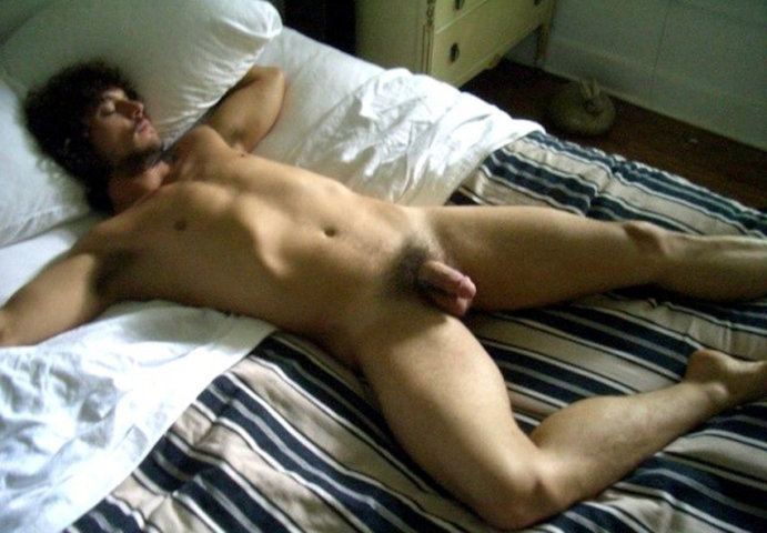 guy sleeping dick out