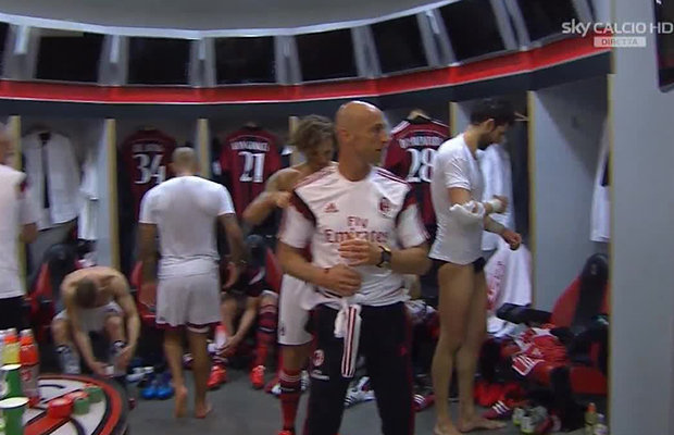 italian football lockerroom nudity