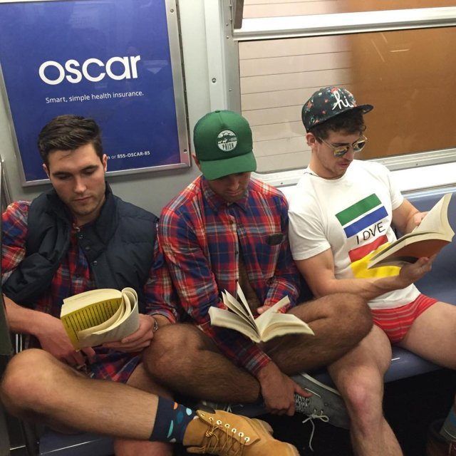 no pants guys in public