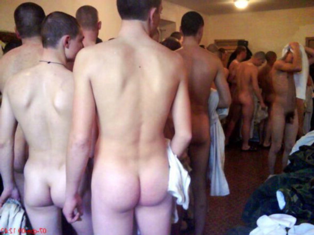 Locker room naked group
