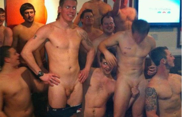 guys having fun naked