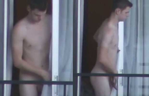 naked guy balcony