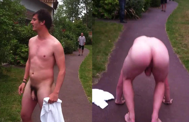 Naked Guy Outdoor