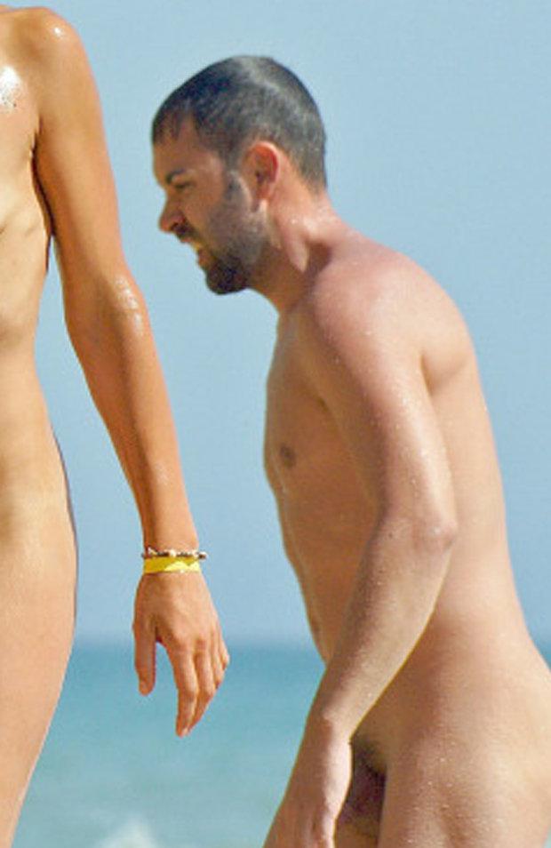 nudist guy caught beach