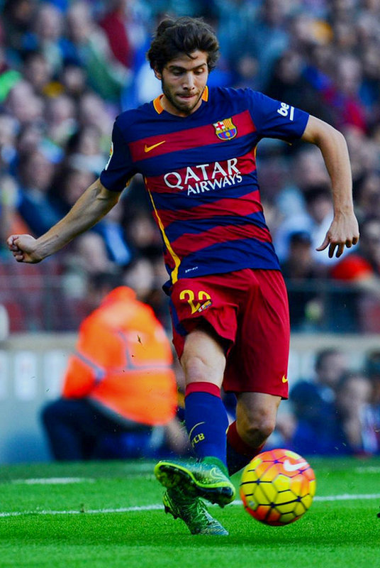 This hot dude is Sergi Roberto, another Spanish soccer player with a huge dick!