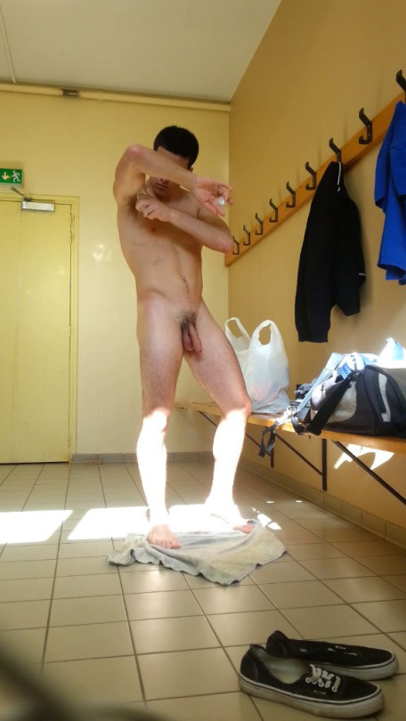sexy dude caught undressed locker room spycam