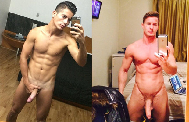 straight naked guys big dicks selfies