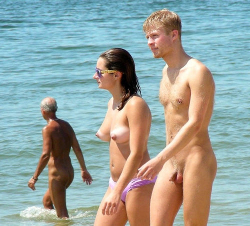 straight nudist guy with girlfriend