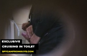 two men caught cruising and jerking dicks public toilet