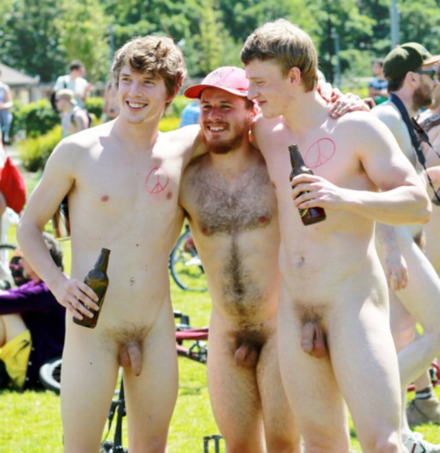 Dudes naked in public