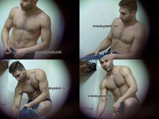 hot lad caught stripping naked locker room