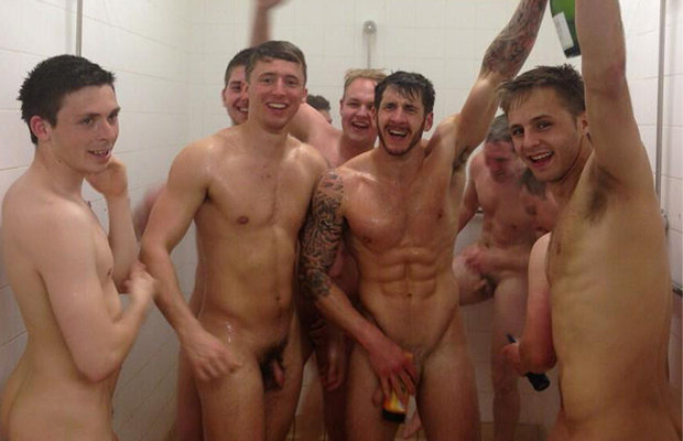 footballers Locker room naked