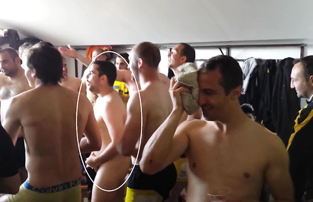 French Ruggers naked lockerroom