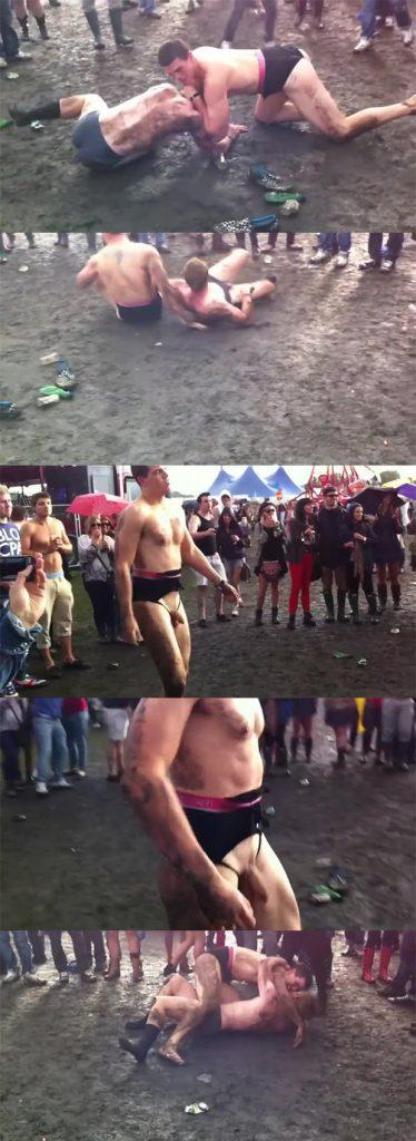 guys naked wrestling festival