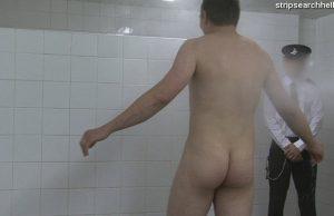 strip search hell man shower