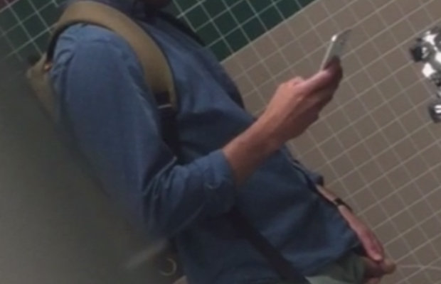 guy caught pissing urinals spycam
