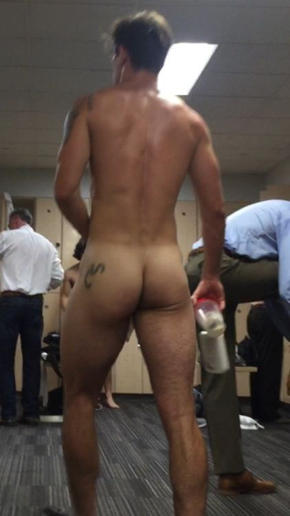 tall stud walking naked lockerroom ass