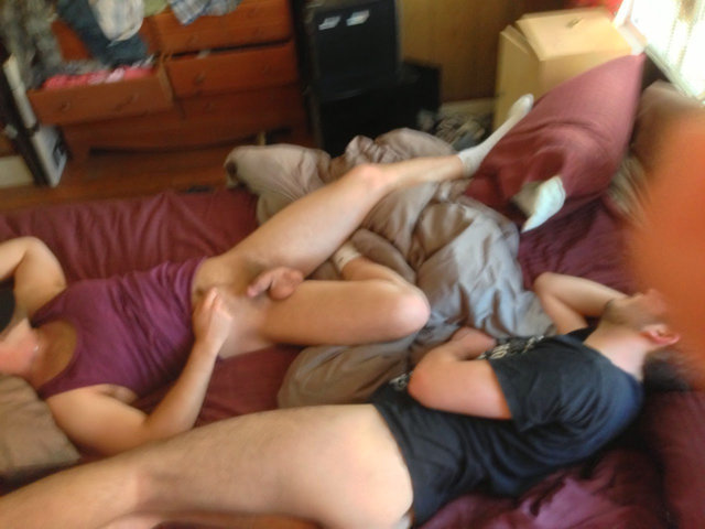 two friends caught sleeping naked 69 position