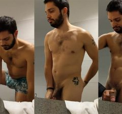 big dick guy touched gym toilet