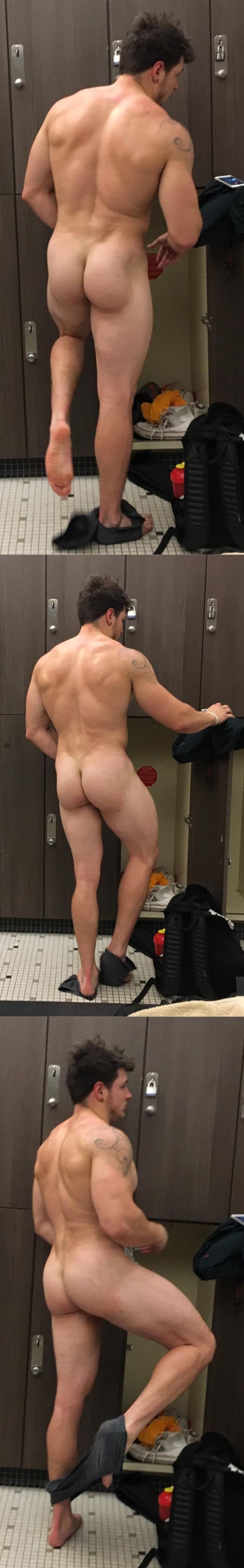 gym lockerroom stud naked ass