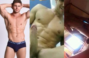 model Jonas Sulzbach laeked naked selfies hard dick