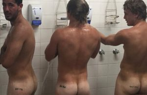 straight dudes naked asses shower
