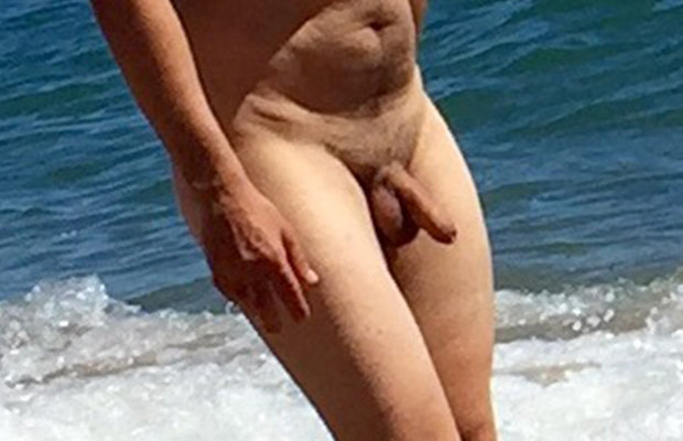 big uncut dick nudist man caught beach