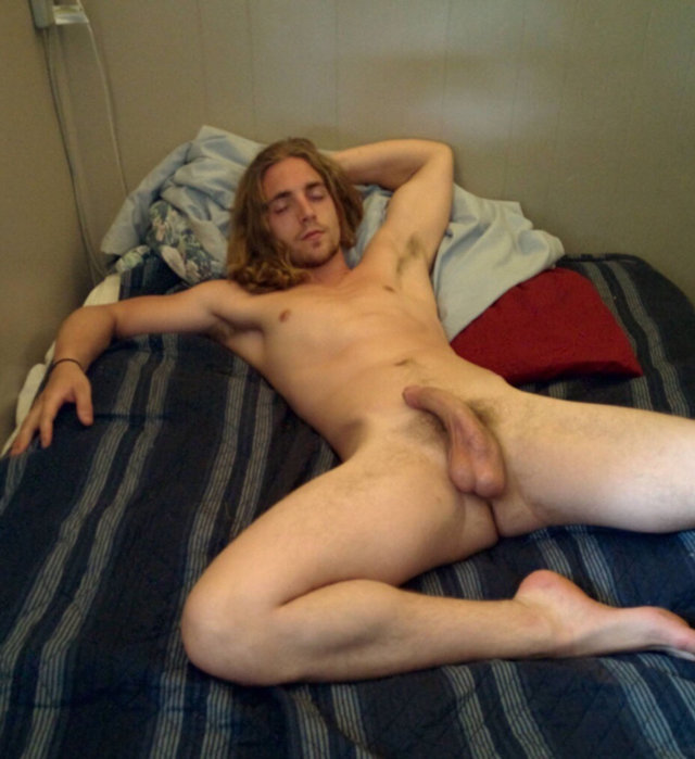 guy sleeping hard dick