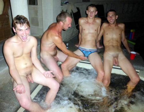 guys naked having fun jacuzzi