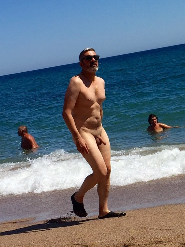 mature man naked beach big cock