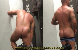 muscle dude big ass caught naked dressing room