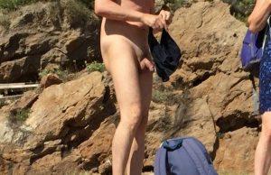 nudist beach spycam voyeur naked man