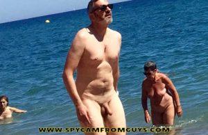 nudist mature man caught naked beach