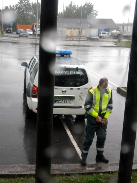 police man caught peeing