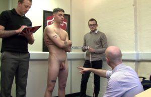 sportsman getting measured up team officer