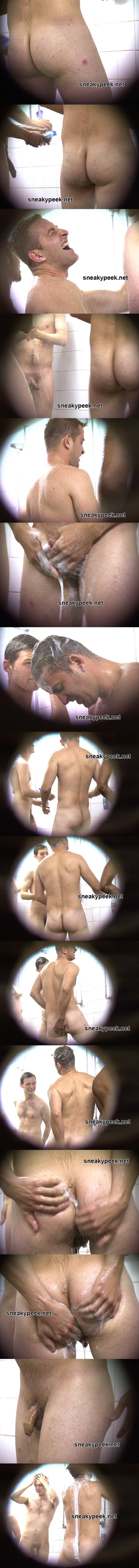 spy on naked guys shower sneaky peek