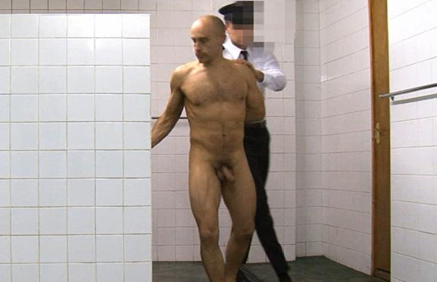 Male inmate strip nude