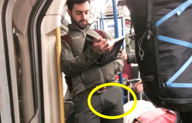 guy-boner-visible-penis-line-subway