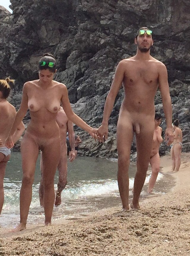 Blonde nude on beach shower apologise, but